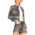 latest women denim jacket fashion jeans and coat apparel set