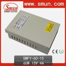 Caixa exterior impermeável da fonte de alimentação do interruptor de 60W 15V 4A