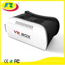 2016 los vidrios video superventas de la caja 3d de VR de la realidad virtual del receptor de cabeza 3D elegante de la tarjeta de google Smart