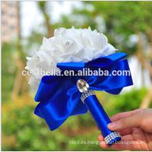 Venta al por mayor de alta calidad de novia nupcial de la boda flor de la dama de honor colores múltiples