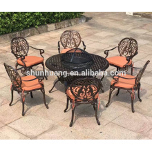 outdoor cast aluminum frame cafe dining chair garden chair and table