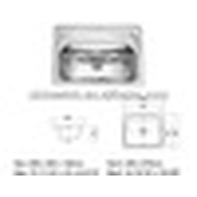 Lavabo suspendu en acier inoxydable SUS 304