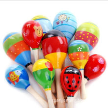 Colorful Wooden Maraca Rattles