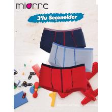 Miorre OEM New 2017 Season's Kid's Boy Fashionable 3 Pack Colorido Slip Boxers Ropa interior