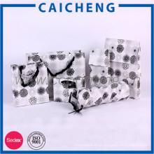 Custom lucury recicla o saco de papel de compras kraft com alça