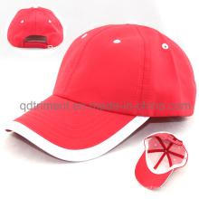 Suave cómoda de poliéster de microfibra de tela de deporte de gorra de béisbol (TMR4517)