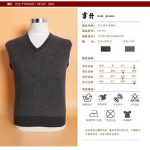 Yak Wool/Cashmere V Neck Pullover Long Sleeve Sweater/Clothes/Garment/Knitwear