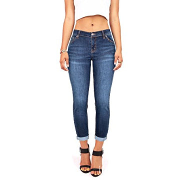Stretch jeans a vita media da donna Juniors