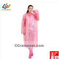 Promotional fashionable emergency pe raincoat for adult popular in Europe