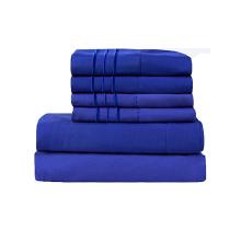 100% Cotton Queen Size  4-piece Long Staple Combed Pure Cotton Bed Sheet Set