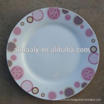 Tamaño estándar del plato de la cena, Plato de cena a granel al por mayor, placa de cena moderna