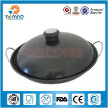 wok chino antiadherente de acero inoxidable para no fumadores