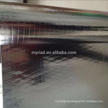 Aislamiento térmico de aluminio de alta calidad de la hoja, material de cubierta reflectante y de plata