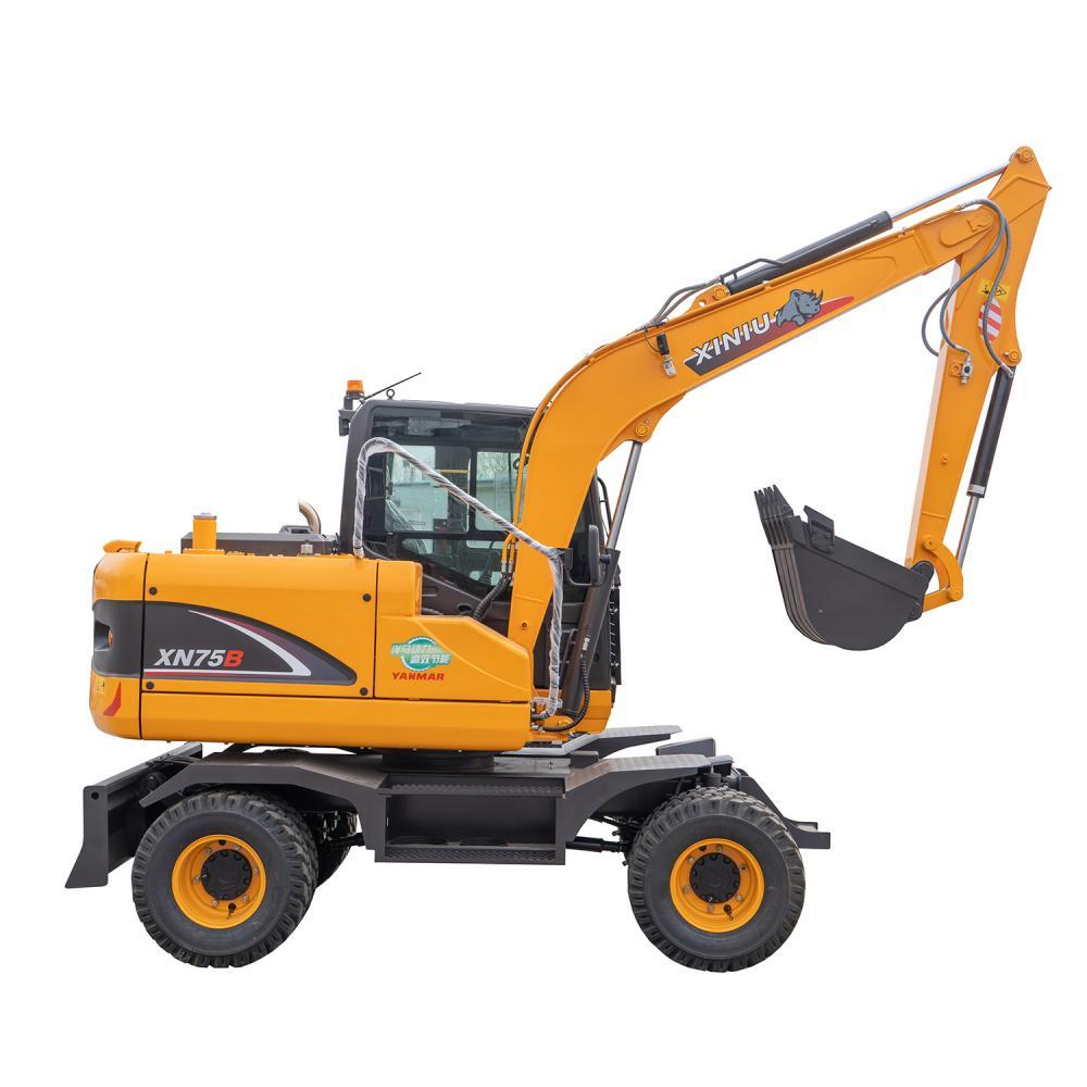 6 Ton Wheel Excavator Xn75b 3