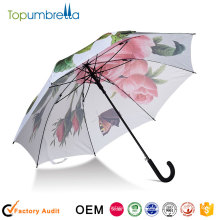 promotional UV protection Auto open umbrella heat transfer pingting umbrellas