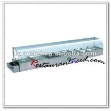 Calentador de alimentos cuadrado K376 Buffet con calentador de alimentos con aislamiento térmico eléctrico superior de mesa de 9 sartenes