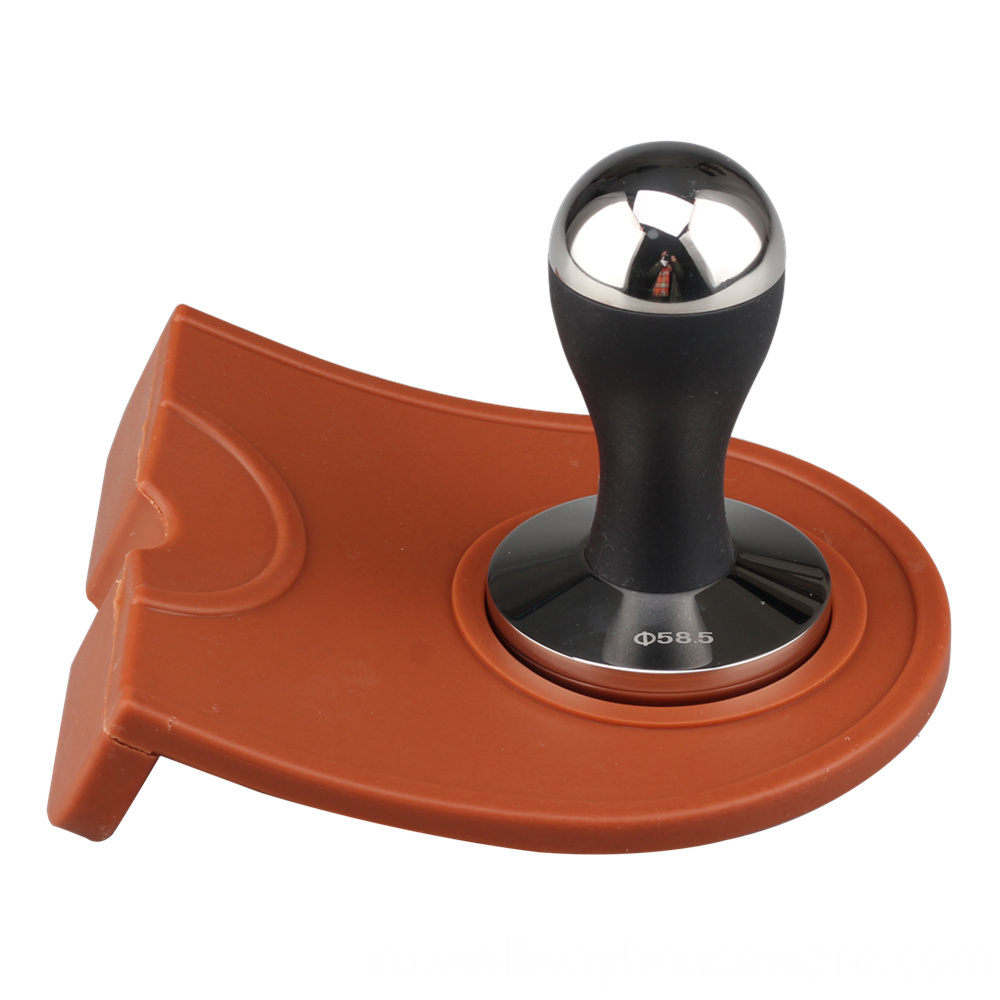 Corner Tamping Mat Pad Tool Made For Baristas With Non Slippery Food Safe Silicone