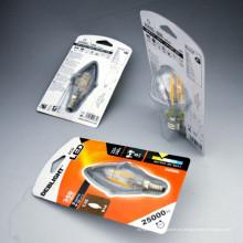 Embalaje de plástico de OEM Caja plegable para bombilla
