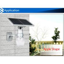 Apple solar / jardim em forma de pêssego tudo em uma luz solar