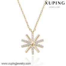 43117- Collier de chaîne en cuivre Xuping Collier pendentif de neige style européen