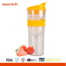 16OZ Everich tritan double wall new fruit infuser with flip lid