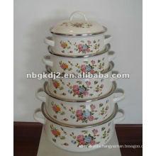 enamel casserole set 673D with metal lid
