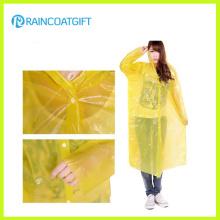 Casaco de chuva descartável claro PE barato Rpe-149A