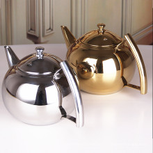 El acero inoxidable superior de la venta vierte sobre caldera del café y el pote del té de la agua fría