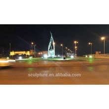 Saudita arabia mano oliva escultura al aire libre con luz