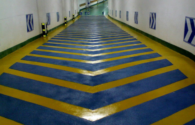 Mall Ramp Epoxy Mortar Slip Floor Paint