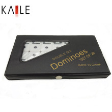 Ivoire Dominoes Double 6 PVC Box Emballage