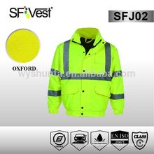 winter jacket EN ISO standard polyester fiber oxford waterproof safety jacket reflective jacket motorcycle jacket