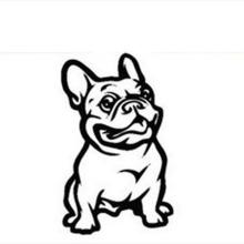 Autocollant auto-adhésif de décalques de voiture de chien de décoration de véhicule, conception d'autocollant de corps de voiture