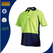 2 Tone Hi Vis Short Sleeve Polo Shirt