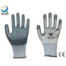 13G Polyester mit Nitril beschichtet Procective Safety Arbeitshandschuhe (N6007)