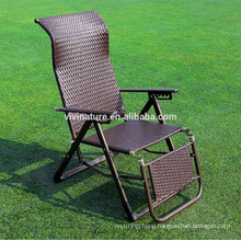Rattan Zero Gravity Lounge Chair with Pillow and Cup Holder