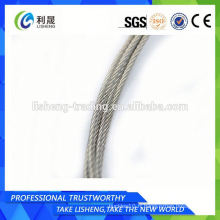 Corde à fil en acier inoxydable 7x7 7 * 19 Fabricant