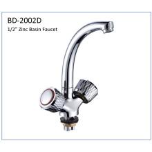 Bd2002D Zinc Double Handles Lavatory Faucet