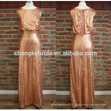 Sexy Sequined Backless Long Evening Prom Dress Formal Banquet Dress Elegant Party Dress