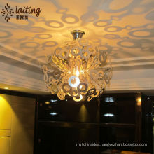 Hanging bright light crystal chandeliers led pendant lighting for home