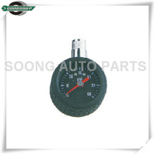 Chrome Plated F1.2 Dial Type Tire Gauge, Brass Stem Dial Air Pressure Gauge