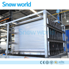 Evaporador de hielo de placa de acero inoxidable de Snow World