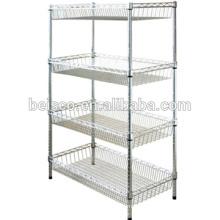 Chromed Wire Shelving shelf brackets wall shelf wire shelving racks