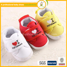 2015 hot sale fashion beautiful free shipping sweet girl cotton shoes comfortable design fabric baby shoes