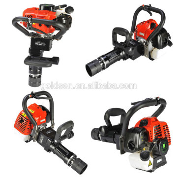 50mm 55mm 70mm Portable Petrol Pile Driving Machine Handheld Gasoline Orchard Post Driving
