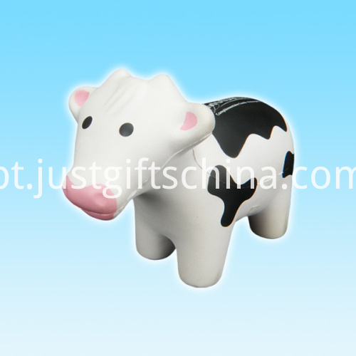 Promotional PU Cow Shape Stress Ball1