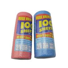 100PK / cozinha Spunlace wiping pano toalhetes não tecidos domésticos para vendas com boa qualidade