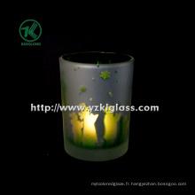 Coupe de bougie en verre à double paroi couleur par SGS (KLB130916-220)
