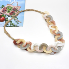 Hyperbole exaggerate bold acrylic chain jewelry for party gift winter collection gold chunky necklace