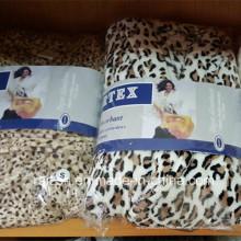 Albornoz alto Quanlity franela estampado leopardo para mujer